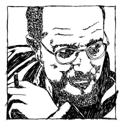 """<strong>Rui Eduardo Paes</strong>, desenhado por <a href=""""http://www.chilicomcarne.com/index.php?option=com_rsgallery2&Itemid=42&catid=95"""">Joana Pires</a> para o <em>Bestiário Ilustríssimo </em>(Chili Com Carne + Thisco; 2012)"""