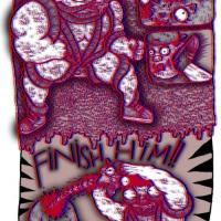 """Versão 3D de bd de Rudolfo para """"Futuro Primitivo"""" (Chili Com Carne; 2011). Página 3."""