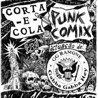 """Cartaz de <strong><a href=""""http://www.chilicomcarne.com/index.php?option=com_rsgallery2&Itemid=42&catid=103"""">André Coelho</a></strong> para exposição <a href=""""https://chilicomcarne.blogspot.pt/2017/09/punk-comix-bd-e-ilustracao-no-punk.html""""><em>Punk Comix</em> na Louie Louie do Porto</a>"""