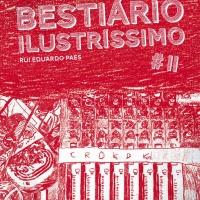"""Capa de <strong><a href=""""http://www.chilicomcarne.com/index.php?option=com_rsgallery2&Itemid=42&catid=95"""">Joana Pires</a> </strong>para <em><strong>Bestiário Ilustríssimo II : Bala</strong></em> (Chili Com Carne + Thisco; 2015) de Rui Eduardo Paes."""