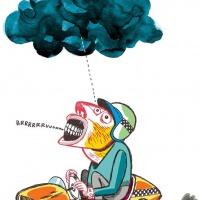 """José Feitor - ilustração para jornal Cascais Submerso"""""""