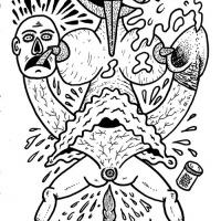 orgasmo junkie antes do nascimento do bebé cocado no zine CriCa Ilustrada 3/3... ou como Mike Diana consegue sempre ir mais longe!