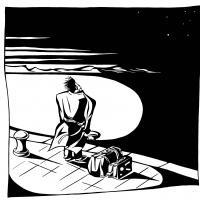 """Vinheta de uma bd publicada no """"Mutate & Survive"""" por João Chambel"""