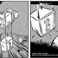 """Tira de bd de Bráulio Amado para """"Futuro Primitivo"""" (Colecção CCC #12, Chili com Carne; 2011)"""