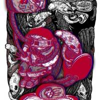 """Versão 3D de bd de Rudolfo para """"Futuro Primitivo"""" (Chili Com Carne; 2011). Página 4."""