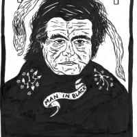 ilustração de Johnny Cash para Entulho Informativo