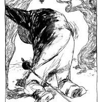 """ilustração de Filipe Abranches para """"Long Knives Throught the Grapevine"""" (Opuntia Books; 2008)"""